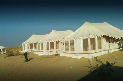 One Night Desert Camp in sand dunes Jaisalmer