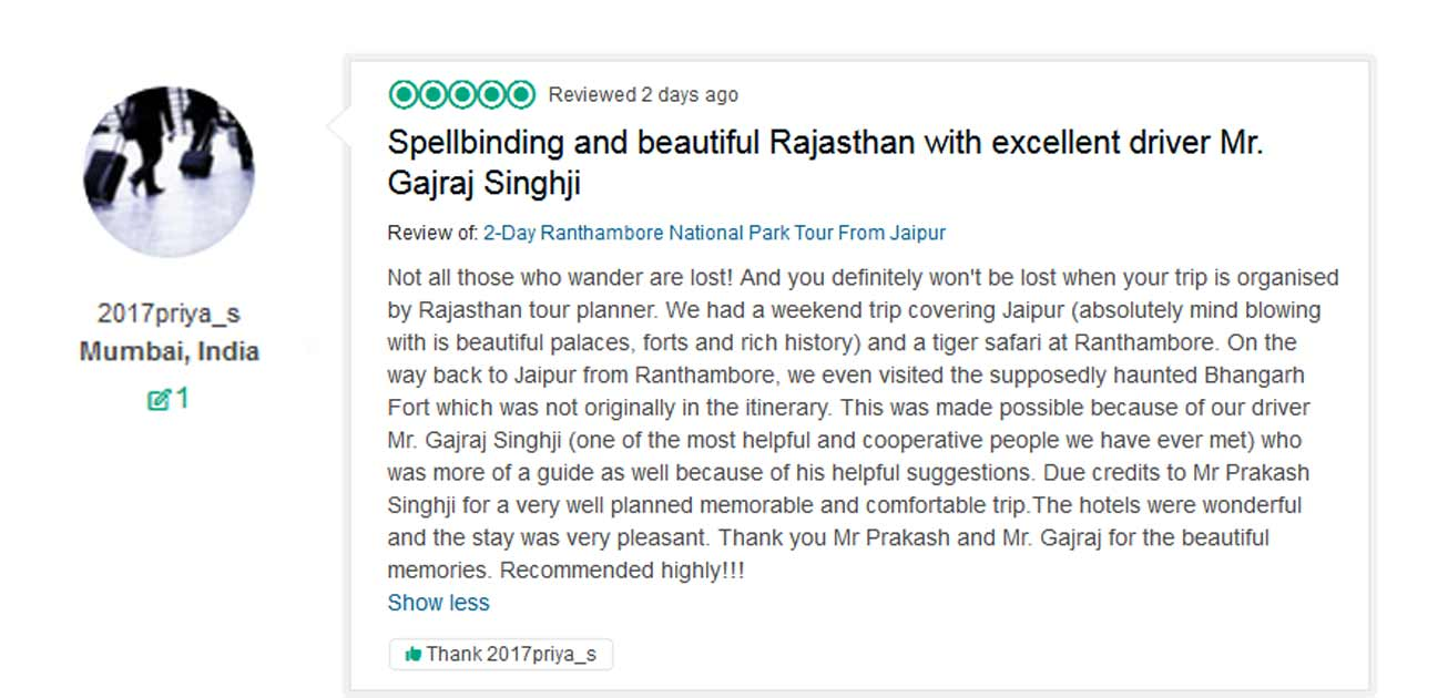 Reviews from our TripAdvisor